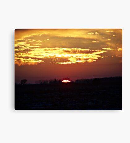 Skies Aflame Canvas Print