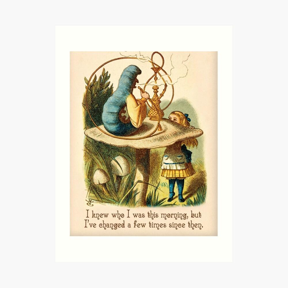 Cita de Alicia en el País de las Maravillas - Sabía lo que era - Cita de Caterpillar - 0235 Lámina artística