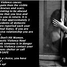 """Stop Abuse Against Women! """"Real Men Don't Hit Women"""" by kailani carlson"""