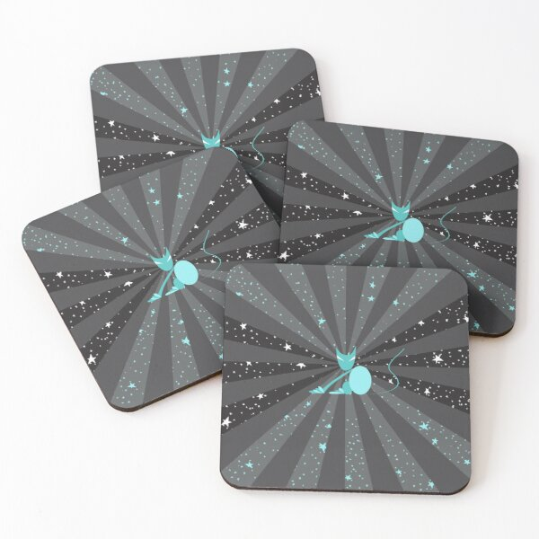 Cosmic Cat Coasters (Set of 4)