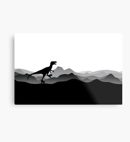 DINO ROLLER SKATES - Dino Collection Metal Print