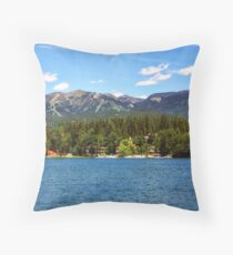 Two Resorts Throw Pillow