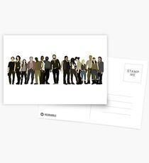 The Walking Dead Cast Postcards