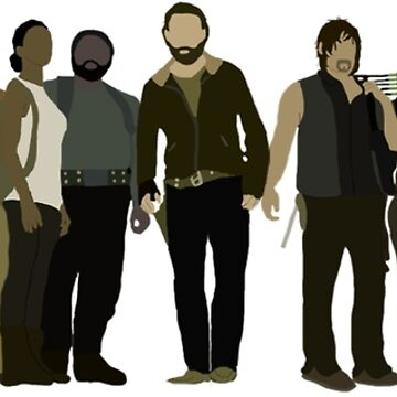 The Walking Dead Cast by mashuma3130