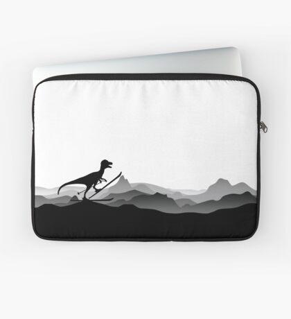 DINO ON SKI - Skiing Dinosaur - Dino Collection Laptop Sleeve