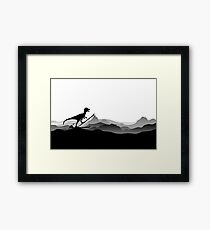 DINO ON SKI - Skiing Dinosaur - Dino Collection Framed Print