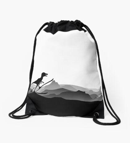 DINO ON SKI - Skiing Dinosaur - Dino Collection Drawstring Bag