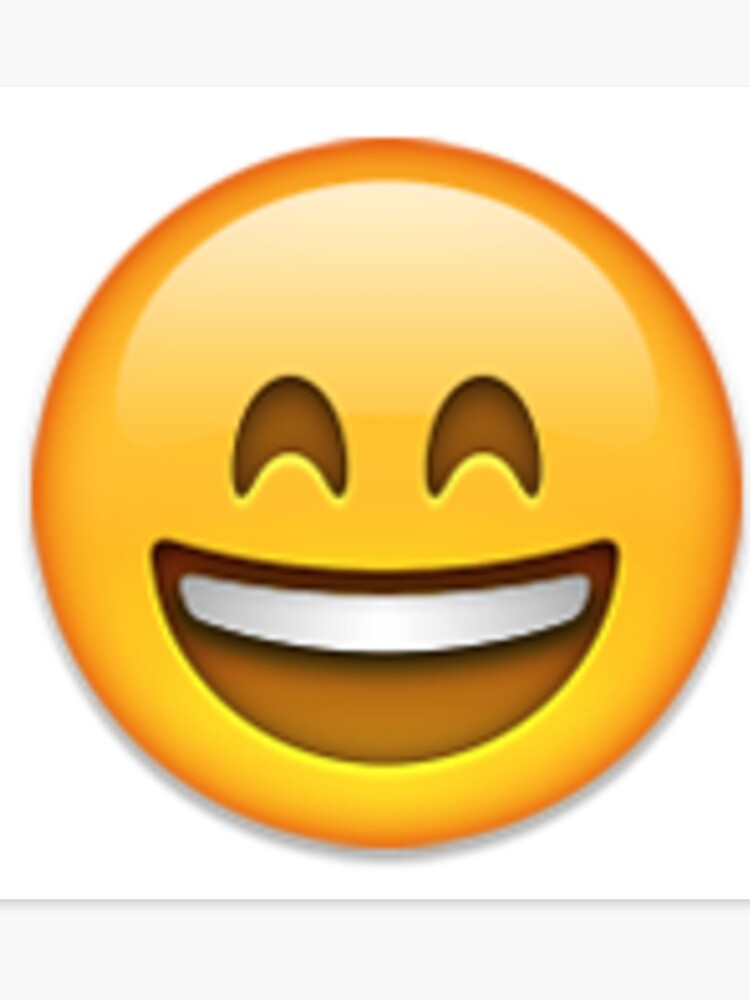 Big Smile Emoji Canvas Print