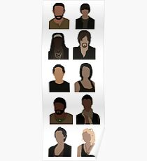 The Walking Dead Cast - Minimalist style Poster