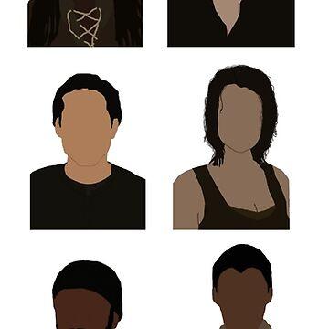 The Walking Dead Cast - Minimalist style by mashuma3130