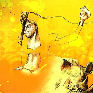 Freedom in the Savanna Sun by emxacloud