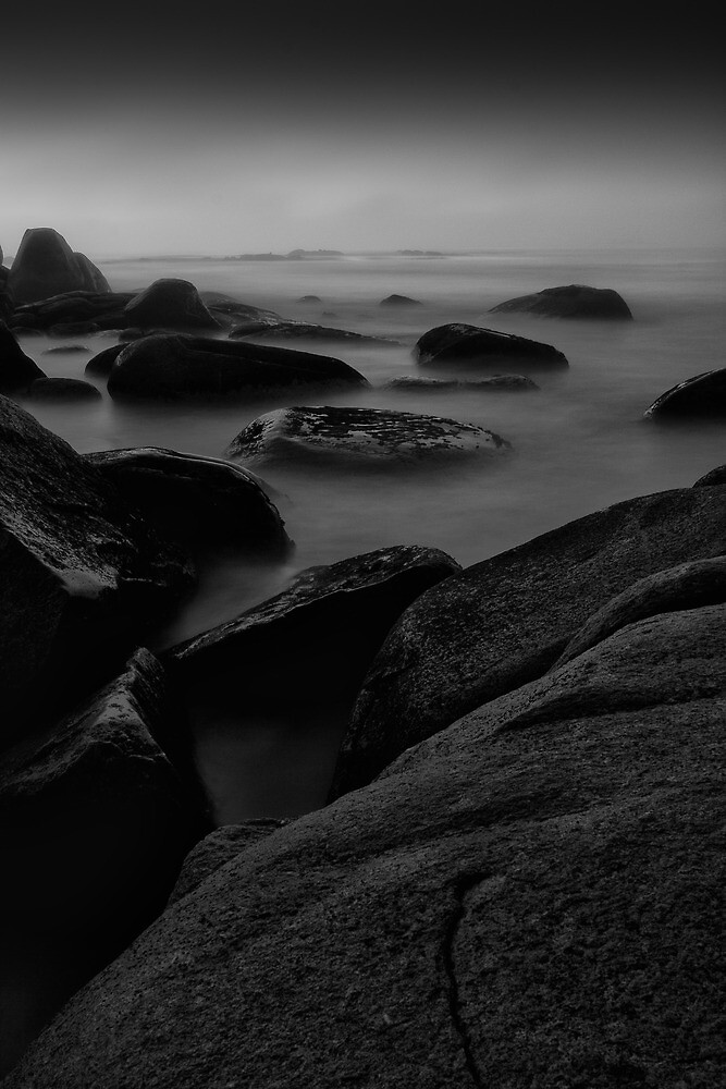 Dawn at Beer Barrell Beach - St Helens by FocusImagery