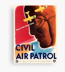 Civil Air Patrol ~ Vintage World War 2 WWII Poster ~ Air Force Pilot ~ 0536 Canvas Print