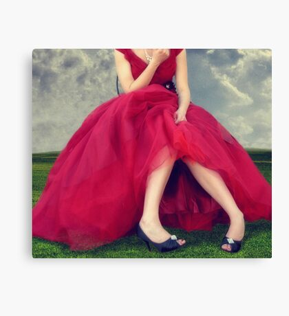 Il Vestito Rosso... Canvas Print