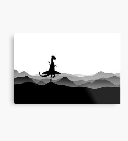 DINO BALLERINA  - Ballerina Dinosaur - Dino collection Metal Print