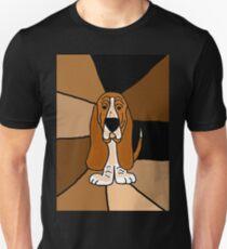 Funny Basset Hound Dog Abstract Art Original Unisex T-Shirt
