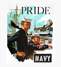 NAVY PRIDE ~ Recruiting Poster ~ War ~ 0539 Photographic Print