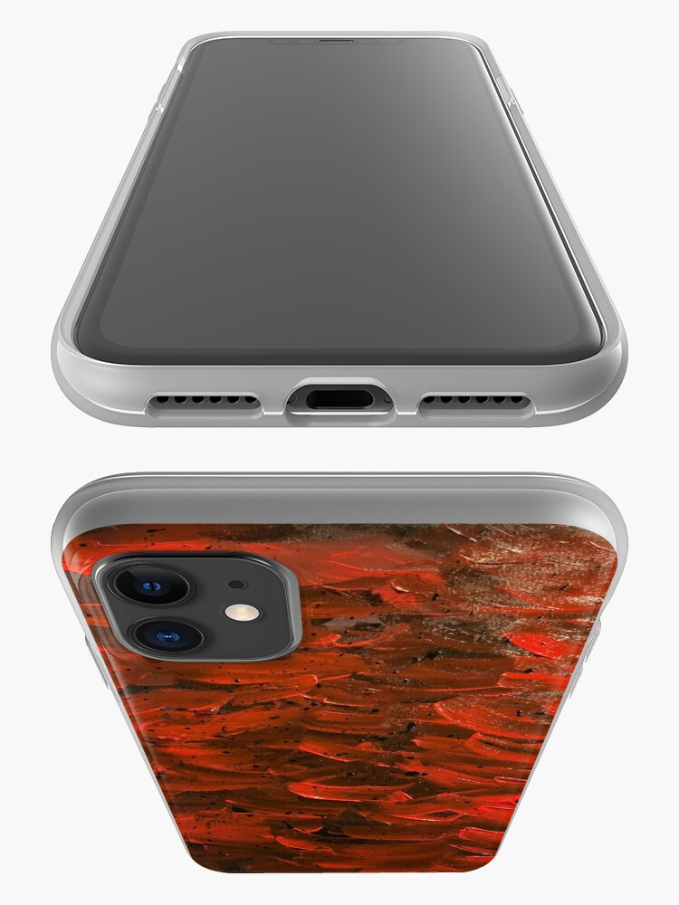 Alternate view of Red Hot Waves iPhone Case & Cover