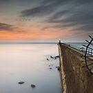 Tynemouth pier dawn by Michael Ridley