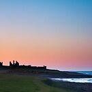 Dustanburgh Castle sundown by Michael Ridley