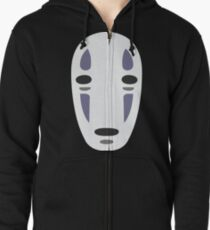 No Face - Spirited Away Zipped Hoodie