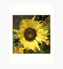 Sunflower Impresionist Art Print