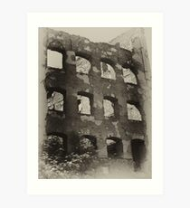 Collapsed Building II Art Print