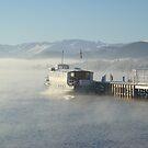 Ullswater Steamer in Winter by Anna Sobert