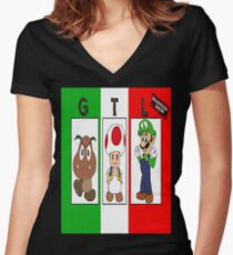 G.T.L Women's Fitted V-Neck T-Shirt