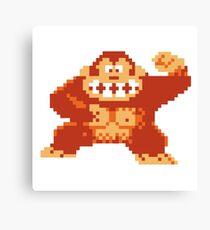 Donkey Kong 8 Bit Canvas Print