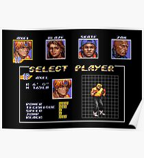 Streets of Rage 3 – Select Axel Poster