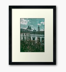 Colonial Architecture at Historic Center of Bogota Colombia Framed Print
