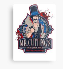 Mr. Cuttings Butcher Shop  Metal Print