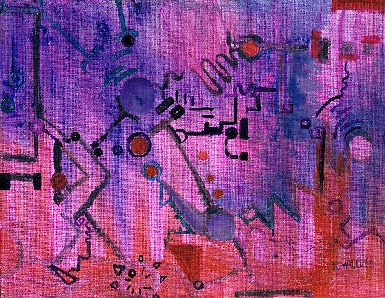 Puzzle in purple by Regina Valluzzi