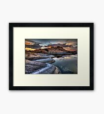 1 2 3 Sunset Framed Print