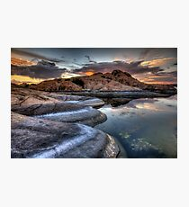 1 2 3 Sunset Photographic Print