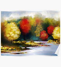 Autumn Landscape - Abstract Art Poster