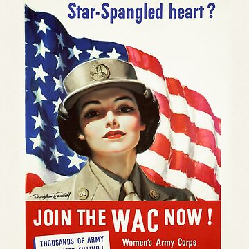 Army Nurse Recruiting Vintage Poster ~ Join the WAC Now! ~ World War 2 WWII ~ 0580 by ContrastStudios