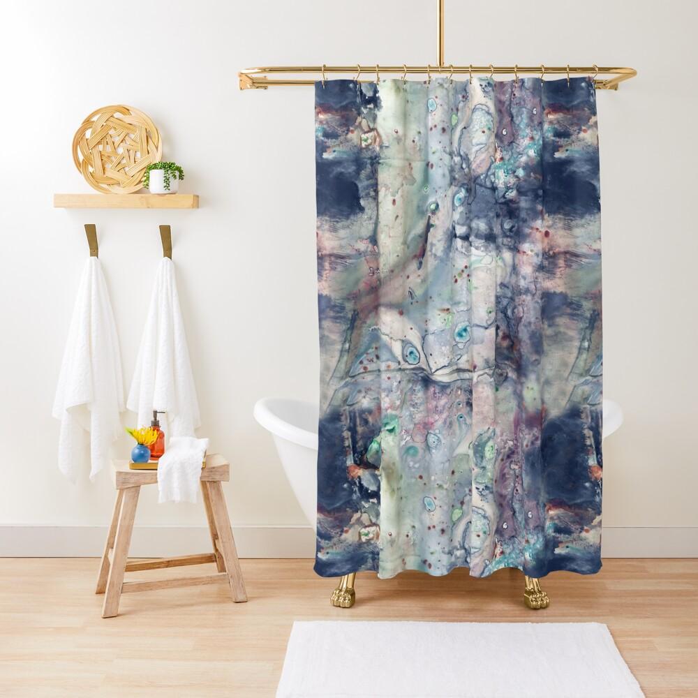 Galaxy Grunge Shower Curtain