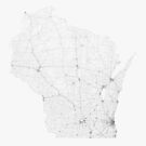 Roads of Wisconsin. (Black on white) von Graphical-Maps