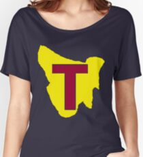 Map of Tassie Women's Relaxed Fit T-Shirt