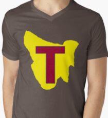 Map of Tassie Men's V-Neck T-Shirt
