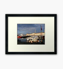 Where are the celebrities??? Framed Print