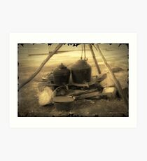 Old Cooking Pots Art Print