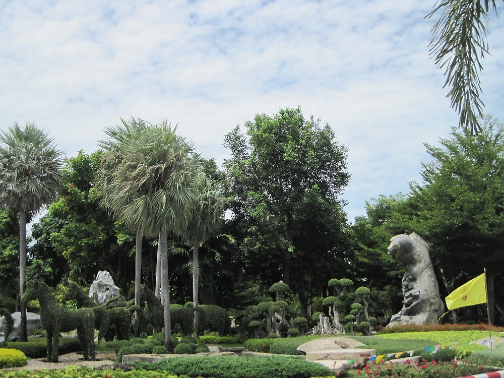 Topiary At Wat Toh Phommarangsi by Hugh Fathers