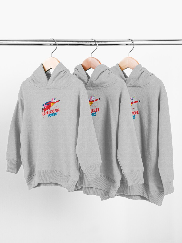 Alternate view of Unicorn Power Toddler Pullover Hoodie