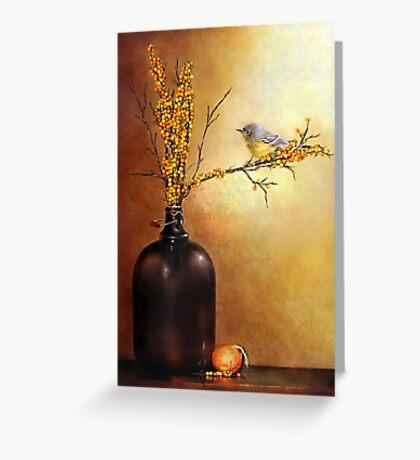 Autumn Warbler  Greeting Card