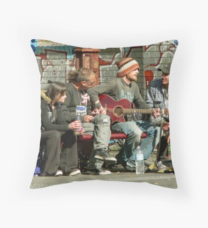 Fitzroy  buskers Throw Pillow