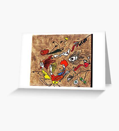 YIKES, RUN!! Greeting Card