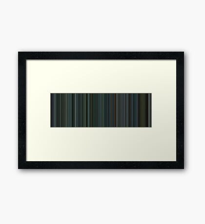Moviebarcode: Snatch (2000) [Simplified Colors] Framed Print